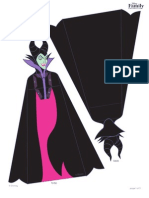 Maleficent Halloween Craft Papercraft Sf Printable 0912 FDCOM