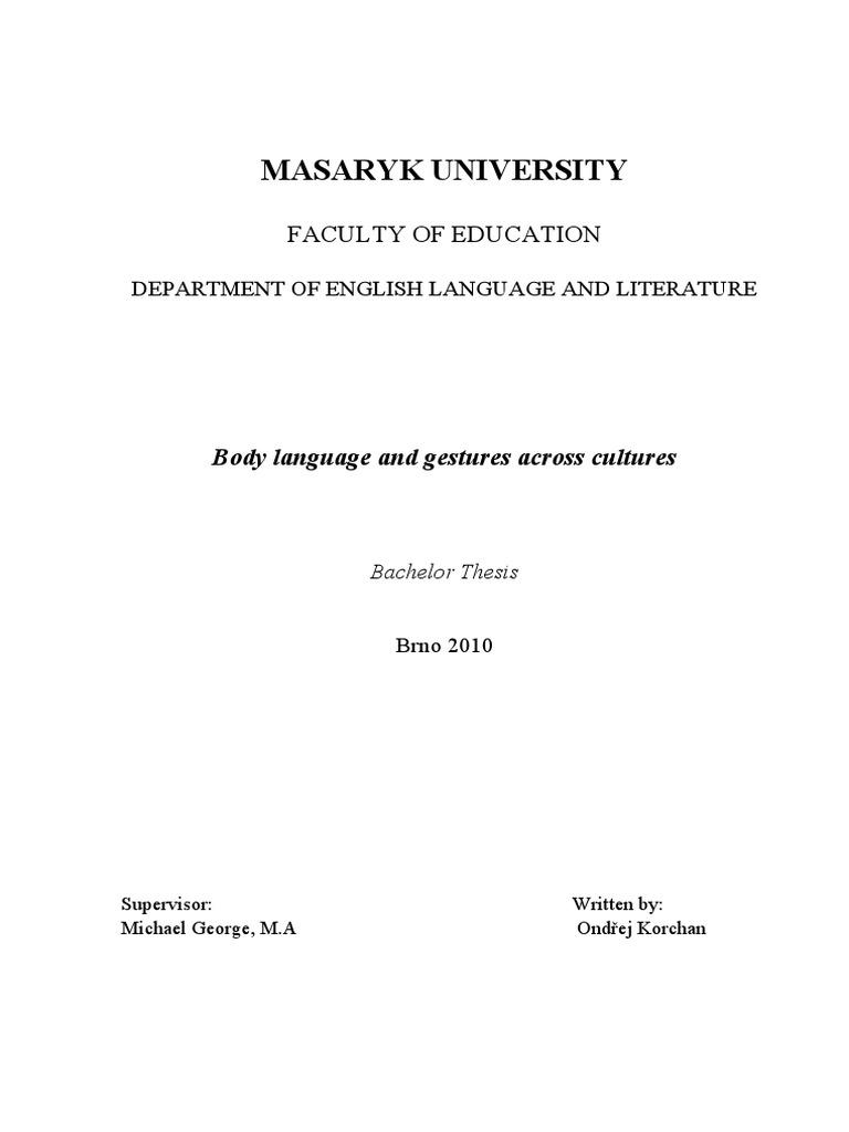 Thesis body language pdf how to write an as media evaluation