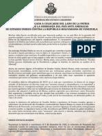 Comunicado del Gobernador Francisco Ameliach Orta ante amenazas de EEUU a Venezuela