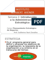 Clase 2 - Administración Estratégica en Las Organizaciones