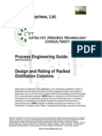 Design and Rating of Packed Distillation Columns