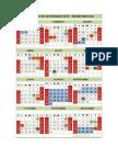 Calendario ULA 2015