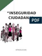 Inseguridad Ciudadana de Chiclayo