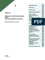SIMATIC Sistema de Control de Procesos PCS 7 SFC Para SIMATIC S7 (V8.1)