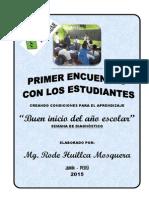 Primer Encuentro Con Los Estudiantes - Rode Huillca 2015