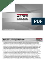 Argex IR Presentation November 20 2014 Presentation