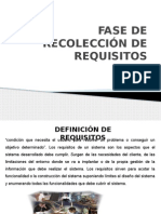 Fase de Recoleccion de Requisitos
