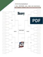 Printable NCAA Tournament Bracket 2015