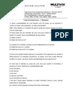 Lista II Exercícios Probabilidade e Estatística