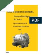 Manual de Operación de Esterilizador