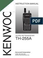 Setting Manual Kenwood TH225A