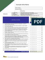 PDSM Example Skills Matrix