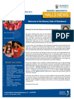 Massey Manawatu Halls News Issue One 2015