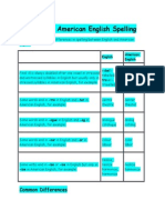 English and American English Spelling