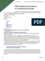 09-03-15 Candidato del PRI al gobierno de Guerrero promete impulso a constructoras locales   El Financiero