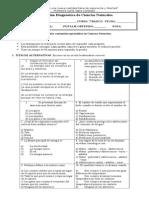 Prueba de Diagnostico 7º Basico 2015