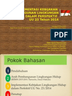Kebijakan LH Perspektif UU 23_ 2014