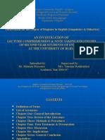 Magister Dissertation Oral Presentation 1007
