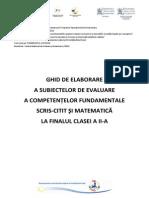 Ghid Evaluare Clasa a II-A