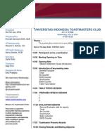 Agenda UI Toastmasters Club - Baru