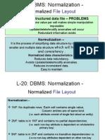 L-5 Normaalization & SQL