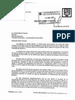 Oficio AED-006-2015 - Cambio profesor Barth