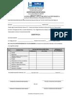 Certificado 1ero de Telesecundaria