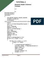 Columnar Transposition Cipher
