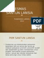 PUSKESMAS SANTUN LANSIA
