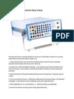 KINGSINE K3066i Protection Relay Testing Datasheet