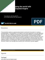 DEV103 - Mapping the World With SAP HANA Geospatial Engine