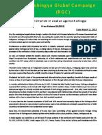 Statement Of Rohingya Organization   (Rohingya Global Campaign)