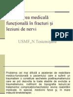 Reabilitarea Medicală Funcțională În Fracturi Și Leyiuni de Nervi PPT