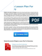 Philippine Lesson Plan for Elementary