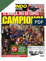 El Mindo Deportivo front page 14-05-2009