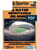 El Mundo Deportivo - front page WM'82 ESPANA - start