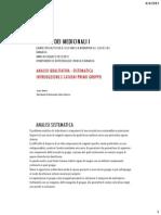 Analisi Qualitativa Sistematica Cationi Primo Gruppo