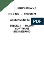 MCA-Sem 3-MC0071-II