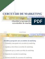 Tema 4. Cercetari de Marketing
