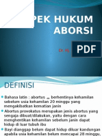 Aspek Hukum Aborsi