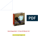David Coperfield-15 Years of Miracle Vol 1