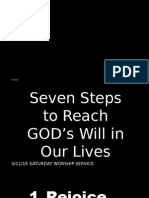 Seven Steps to Reach GOD's Will in Our Lives