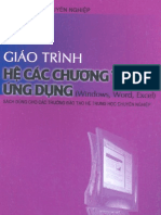 Giao Trinh He Cac Chuong Trinh Ung Dung Windows Word Excel 2233