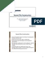 Secant Pile Construction