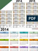 Calender 2013-2014-2015