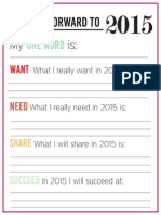 New Years Resolution Adult 2015