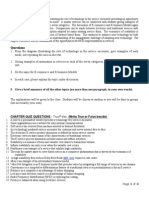 Student Deliverables in Service Operations Management