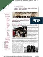 English.clas.Asu.edu Performance Art Researc