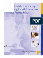 Improving Health Literacy