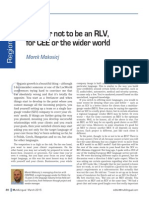 To be or not to be an RLV, for CEE or the wider world